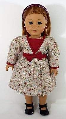 "Dress Flowery For American Girl Or Any 18 "" And 15 ""Dolls Clothes"