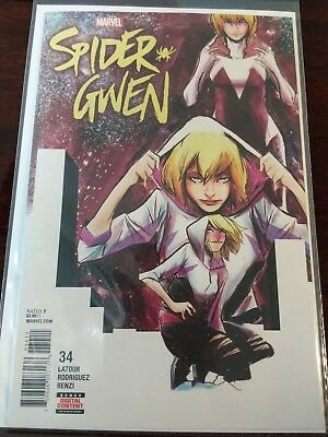 Spider Gwen #34 Final Last Issue Homage Cover Origin Of Ghost Spider Low Print