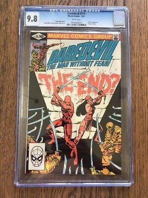 Daredevil 175 CGC 9.8 White Pages Elektra Cover Frank Miller