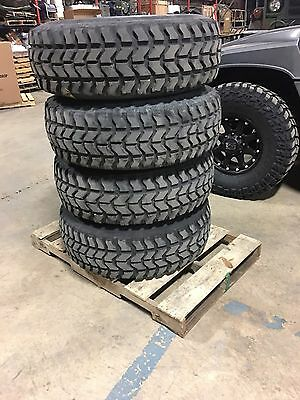 (4) MILITARY HMMWV Goodyear 37X12 50R16 5 Humvee Tires