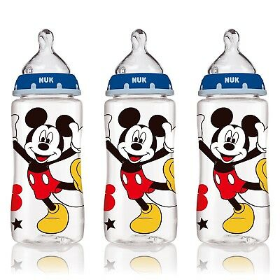 NUK Disney Baby Bottles 10 Ounce, Mickey Mouse, 3 Pack
