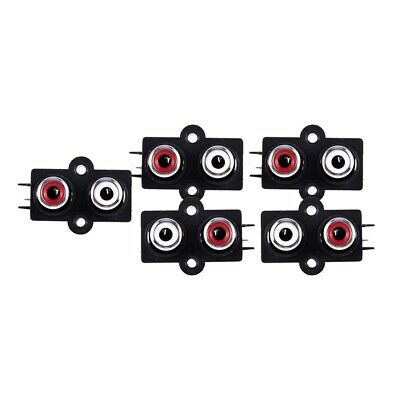 5pcs PCB Mount 2 Position Stereo Audio Video Jack RCA Female Connector F9J3