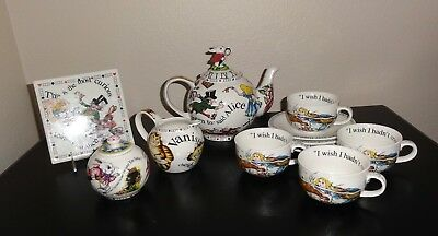 Alice In Wonderland COMPLETE Tea Set, Paul Cardew, Excellent Condition