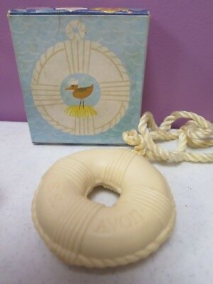 """Vintage AVON Soap - on - a - Rope  """"Life Preserver""""  with Original Box"""