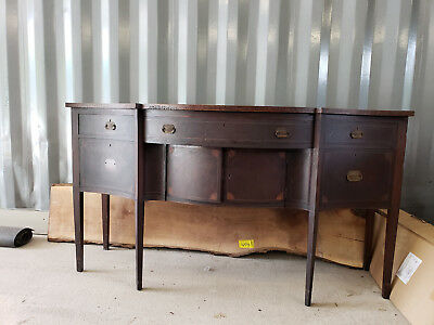 Antique 19th century Sideboard Buffet Table Cabinet