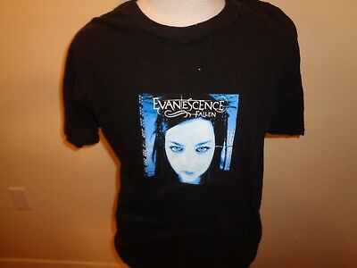 Large VTG EVANESCENCE FALLEN M&O Knits tag 2-sided concert tour t-shirt