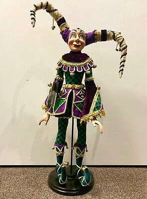 """Katherine's Collection Jester Doll 24"""" NEW"""