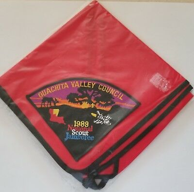 Ouachita Valley Council 1989 National Scout Jamboree patch on neckerchief BS