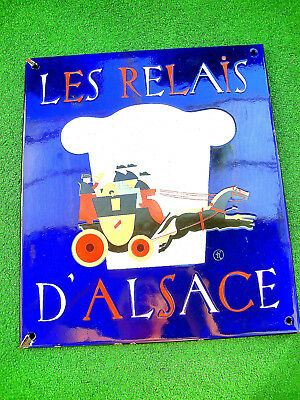 Emailschild Les Relais d' Elsace Emaille sehr selten Top Zustand! - very rare!