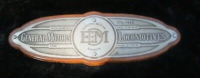 General Motors Electro-motive Locomotives Plaque June 1956 Century Alco Gn Elect