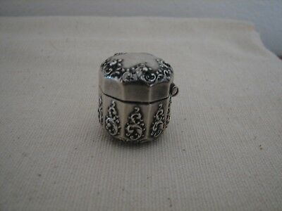 SWEET Vintage Antique STERLING Thimble Holder CHATELAINE