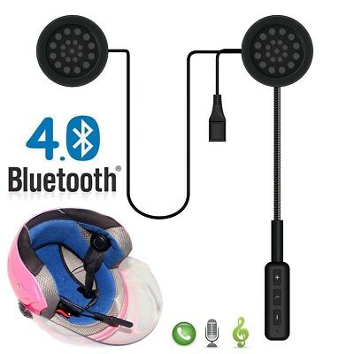 Bluetooth Motorcycle Helmet Headset Intercom Earphone Speaker Mic Handsfree Call