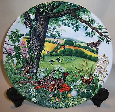 "Wedgwood Bone China Plate Limited Edition 1987 ""Meadows and Wheatfields"""