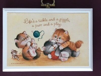 Hallmark Playing Kittens Wooden Plaque - Life's a Tickle and a Giggle, Purr/Play