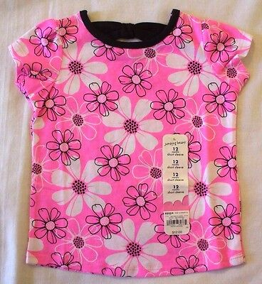 Jumping Beans 2T Neon Pink Flowers shirt New