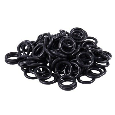 100Pcs Black Rubber O Ring 20mm x 14mm x 3mm for RC Plane Prop Saver R1K6