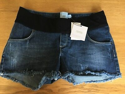 Women's Maternity Jean Shorts ASOS, UK 10, EU 33, Blue, BNWT