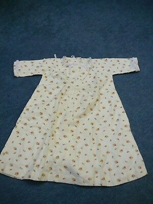 vintage hand made printed cotton baby gown dress