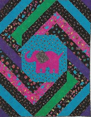 ELEPHANT WALK - Piecing/Applique - Quilt Pattern Removed from a Magazine