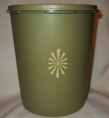 Vintage Tupperware Avocado Green Canister 807-3