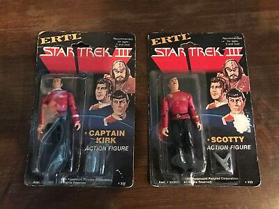 Star Trek action figures ERTL (Captain Kirk and Scotty) 1984