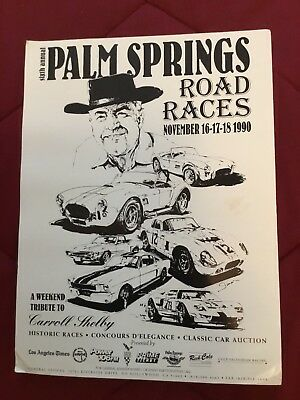 Carroll Shelby Tribute Poster