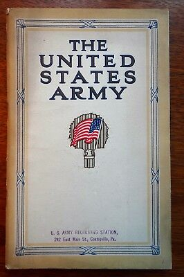 1913 Official War Department The US Army as a Career WW1 WWI Recruitment Booklet