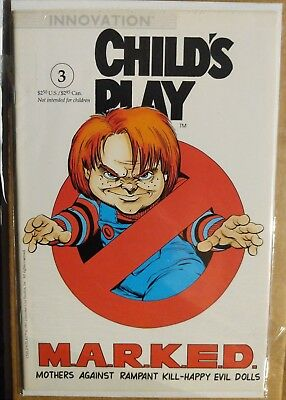 Child's Play the series issue #3 1991 VFN/NM Chucky Innovation US Comics