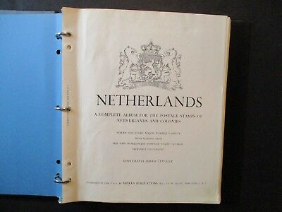 Netherlands 18502-1990s Lot of 376 stamps in album (w/tear) unchecked