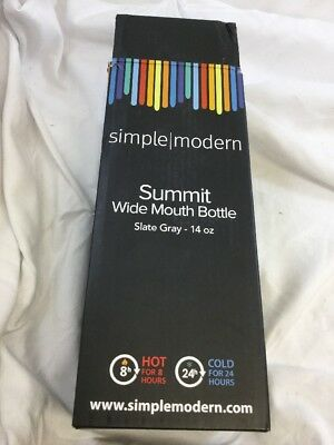 NWT Simple Modern Summit Water Bottle Extra Lid  Wide Mouth Vacuum Insulated(KF)