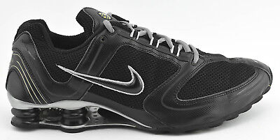 bb2f3abb1c9 Mens Rare Nike Shox Rng 2006 Running Shoes Size 12 Black Gray Silver 314181  002