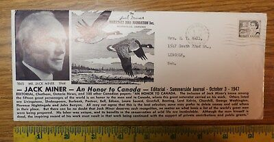Jack Miner - Migratory Bird Foundation Kingsville Ontario - Cover / Envelope