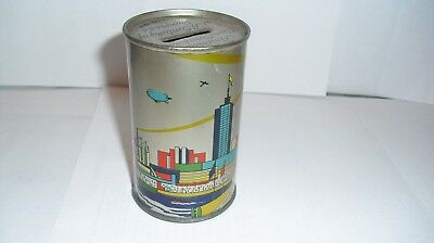 CollectibleBank. Chicago World's Fair 1934. Made by American Can Company.