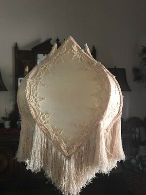 VICTORIAN LIGHT PINK  With FRINGE LAMPSHADE  GORGEOUS