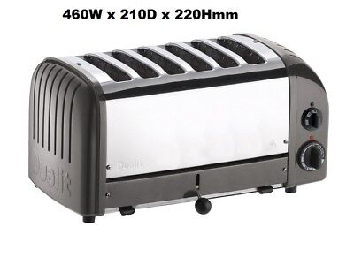 Dualit 60156 Charcoal 6 Slice Bread Toaster Commercial Kitchen School Hotel Cafe