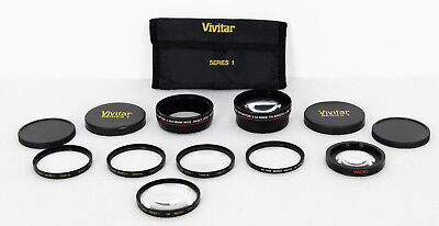 Vivitar Series 1 2.5X Telephoto & 0.43X Wide Angle / Macro Lenses 58mm Set