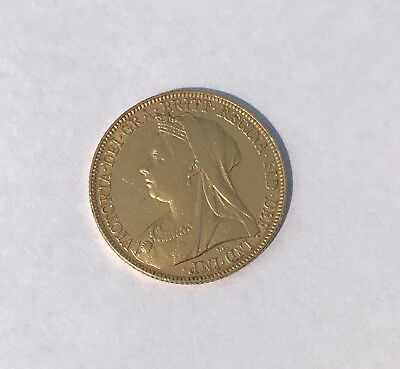 Great Britain 1898 Full Gold Sovereign Old Head