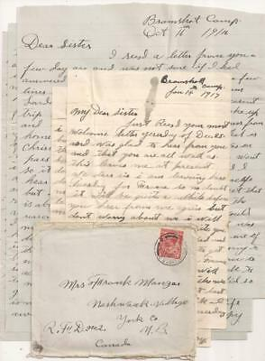 WWI CEF Letters, 1916-17. Fought in France. 26th Canadian Infantry Battalion.