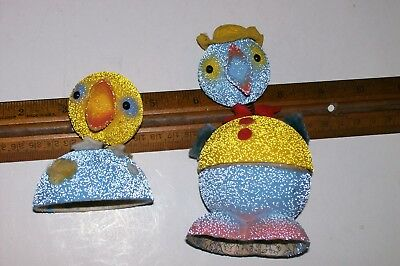 Vintage Easter Chick Nodder Candy Container Made In West Germany Of Paper Mache