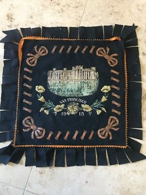 1915 SAN FRANCISCO EXPOSITION  PPIE Fabulous Felt Pillow Cover