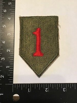 WW2 WWII US Army 1st Division Big Red One Patch Rare