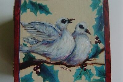 """Lina Hoffman tole painting pattern """"Two Turtle Doves"""""""