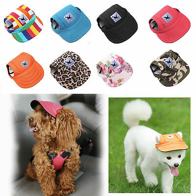 Tail Up Pet Dog Hat Baseball Cap Windproof Travel Sports Sun Hats for Puppy Pet