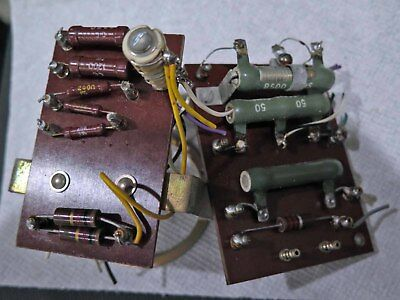 Hickok 539 B C Tube Tester Internal Resistors with mounting boards