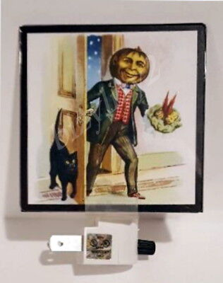 New Reproduction Vintage THE VISITOR Halloween Scrap Art Night Light