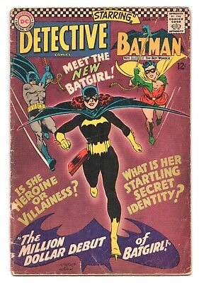 Detective Comics #359 (1937 Series) 1st Barbara Gordon Batgirl January 1967 GD