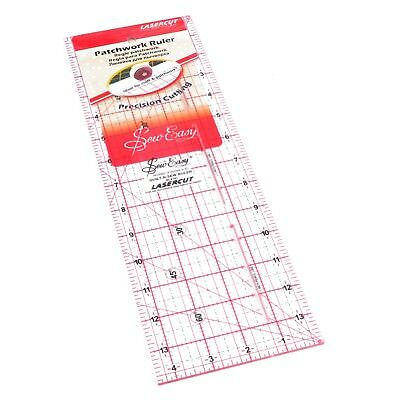 "SEW EASY 14"" x 4.5"" TEMPLATE RULER - right and left hand PATCHWORK QUILTING BNEW"