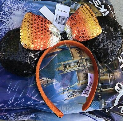 IN HAND Disney Parks Candy Corn Halloween Minnie Ears Headband New 2018