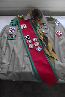 Boy Scouts Of Canada Shirt, Sash and Kerchief With Slide Uniform