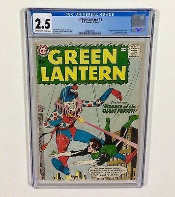 Green Lantern #1 CGC 2.5 KEY (Origin of Green Lantern) Jul.1960 DC Comics